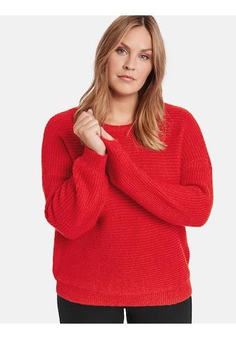 Samoon Pullover Langarm Rundhals »Pullover mit Ripp - Struktur« kaufen