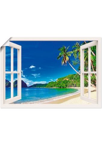 Artland Wandbild »Fensterblick Paradies«, Fensterblick, (1 St.), in vielen Grössen &... kaufen