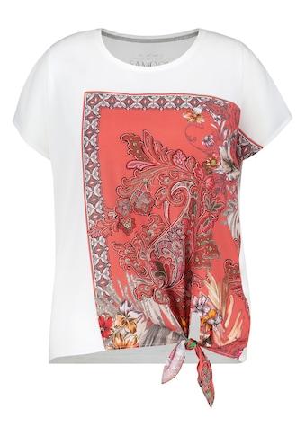Samoon T - Shirt Kurzarm Rundhals »Shirt mit Material - Mix« kaufen