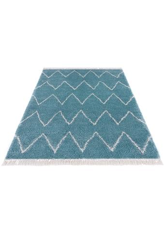 MINT RUGS Hochflor-Teppich »Ruby«, rechteckig, 35 mm Höhe, pastell Farben mit Fransen,... kaufen