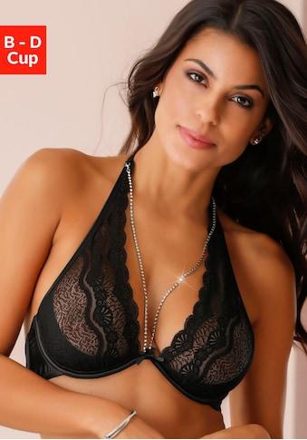 LASCANA Belle Affaire Neckholder-BH, mit abnehmbarer Strasskette kaufen
