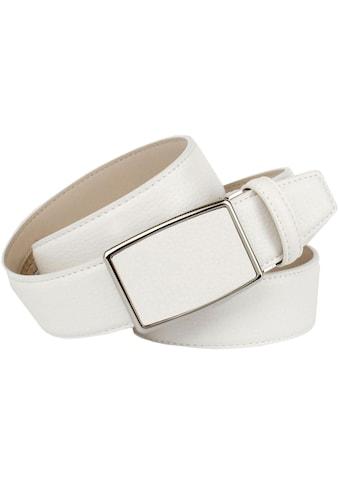 Anthoni Crown Ledergürtel, in weiss für Jeans kaufen