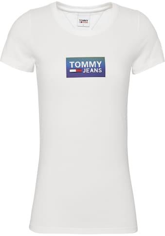 TOMMY JEANS Rundhalsshirt »TJW GRADIENT LOGO TEE« kaufen