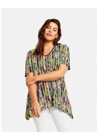 Samoon T - Shirt Kurzarm Rundhals »Ausgestelltes Shirt mit exotischem Print« kaufen