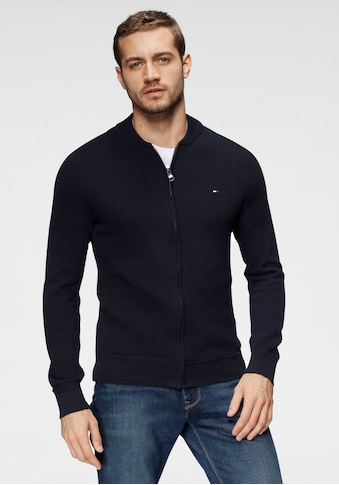 TOMMY HILFIGER Strickjacke »RICECORN BASEBALL ZIP THROUGH« kaufen