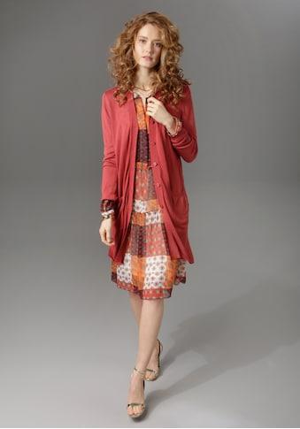 Aniston CASUAL Strickjacke, in Longform mit Seitenschlitzen kaufen