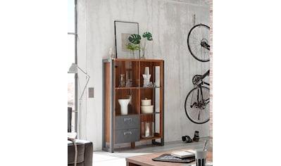 Home affaire Highboard »Detroit«, mit 2 Schubladen, Höhe 140 cm, im angesagten Industrial Look kaufen
