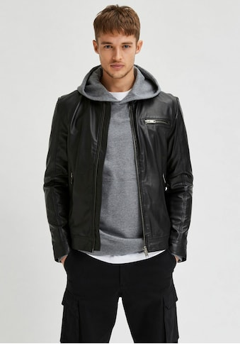 SELECTED HOMME Bikerjacke »ICONIC CLASSIC LEATHER JKT« kaufen