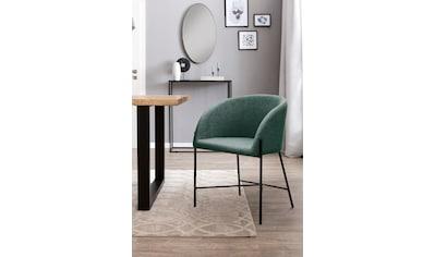 SalesFever Esszimmerstuhl, mit mattschwarzem Metallgestell kaufen