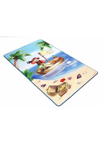 Böing Carpet Kinderteppich »Lovely Kids LK-1«, rechteckig, 2 mm Höhe, Motiv Pirat,... kaufen