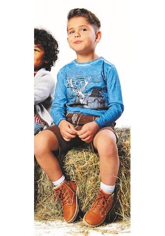 BONDI Trachtenshirt Kinder in Flammgarnoptik kaufen