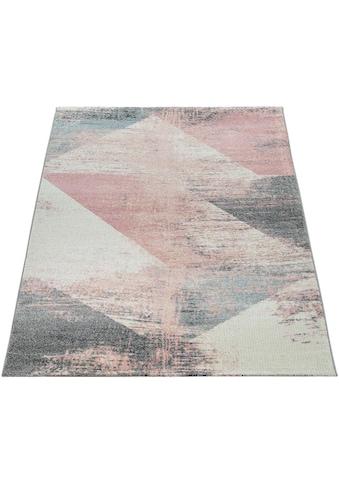 Paco Home Teppich »Mero 102«, rechteckig, 12 mm Höhe, Kurzflor, Pastell-Farben,... kaufen