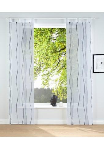 my home Schiebegardine »Dimona«, Fertiggardine, inkl. Beschwerungsstange, transparent kaufen