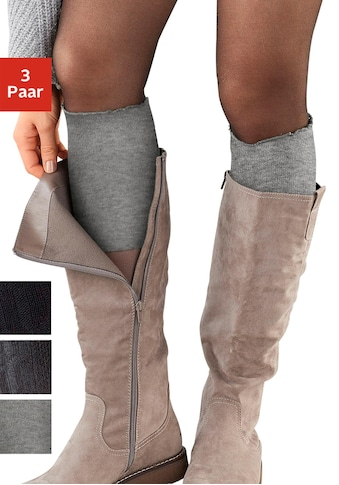 Lavana Stulpensocken, (3 Paar), für Stiefel kaufen