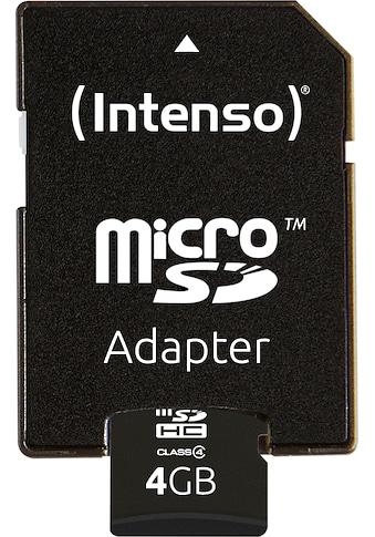 Intenso Speicherkarte »microSDHC Class 4 + SD-Adapter«, (Lesegeschwindigkeit 16,5 MB/s) kaufen
