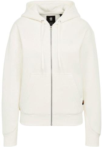 G-Star RAW Sweatshirt »Premium Core Hooded Zip Through Sweatshirt«, mit Kängurutasche und weite Kapuze mit Kordelzug kaufen