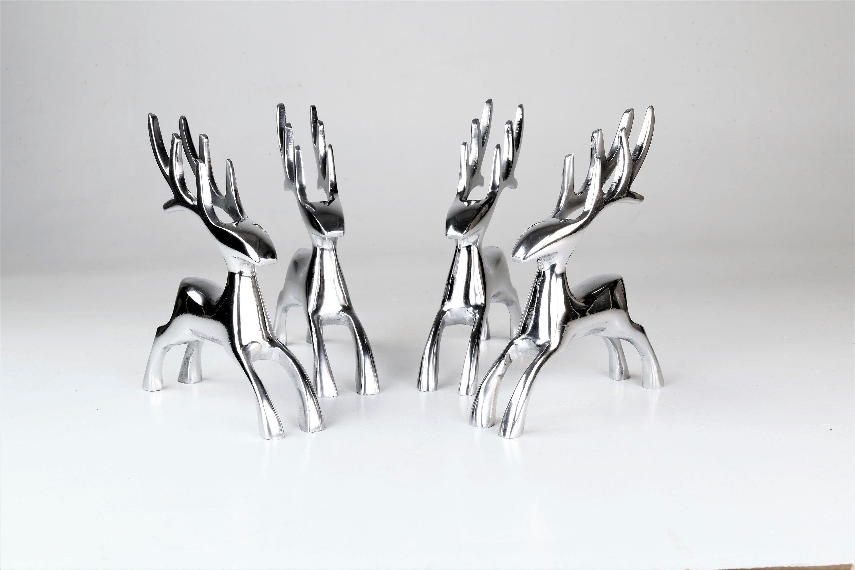 """Image of ARTRA Dekofigur »Deko Hirsche """"Dasher"""" aus Aluminium im 4er Set Skulpturen«"""