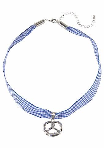 J.Jayz Halsband »kariert, mit Brezelanhänger blau/weiss, Wiesn, Trachten« kaufen