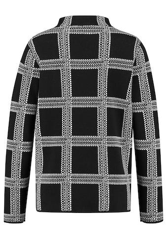 GERRY WEBER Rundhalspullover »Karierter Pullover« kaufen