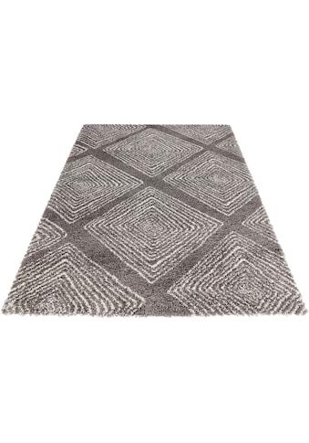 MINT RUGS Hochflor-Teppich »Wire«, rechteckig, 35 mm Höhe, Allover Design im Skandi... kaufen