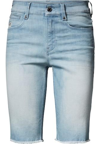 G-Star RAW Jeansbermudas »4311 Noxer High Slim Short«, mit leicht ausgefranster Kante am Saumabschluss kaufen