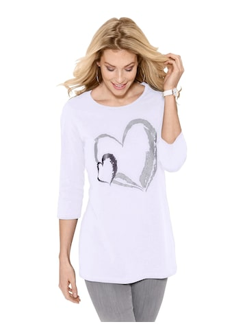 Classic Basics Longshirt mit auffälligem Print kaufen