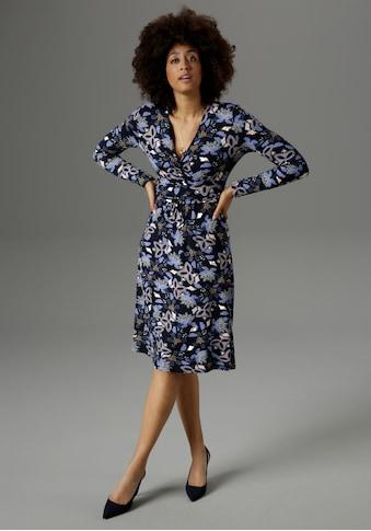 Aniston SELECTED Jerseykleid, mit intensivem Blumendruck - NEUE KOLLEKTION kaufen