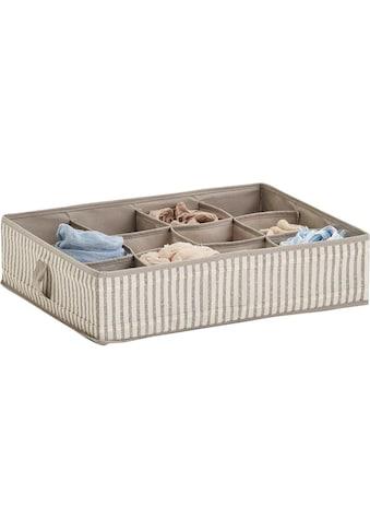 Zeller Present Aufbewahrungsbox »Stripes«, 12 Fächer, faltbar, Vlies, beige kaufen