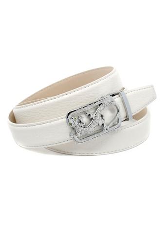 """Anthoni Crown Ledergürtel, mit Koppelschliesse """"Eidechse"""" und Metallschlaufe kaufen"""