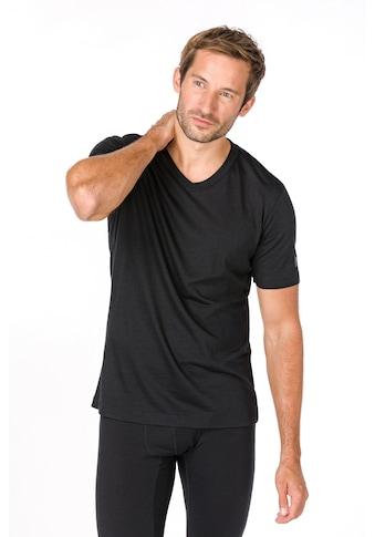 SUPER.NATURAL T-Shirt »M BASE V-NECK TEE 140«, geruchshemmender Merino-Materialmix kaufen