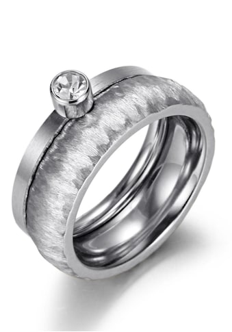 Firetti Ring - Set »2,0 mm, 4,0 mm, glänzende Optik, matt, gekratzt, strukturiert« (Set, 2 tlg.) kaufen