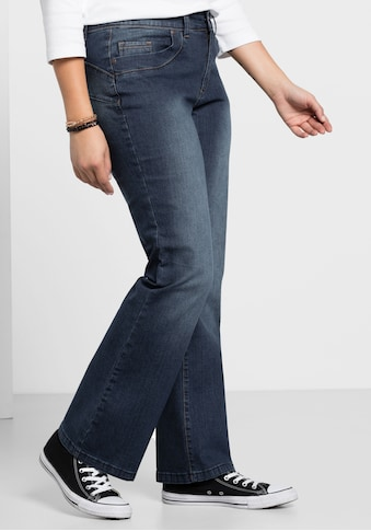 Sheego Bootcut-Jeans, Individuelle Used Effekte kaufen