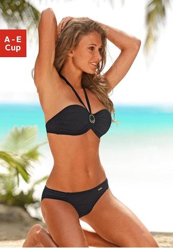 LASCANA Bügel-Bandeau-Bikini, mit Zierschnalle zwischen den Cups kaufen