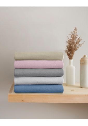 GOODproduct Spannbettlaken »Jannis«, Mako-Jersey aus zertifizierter Bio-Baumwolle mit... kaufen