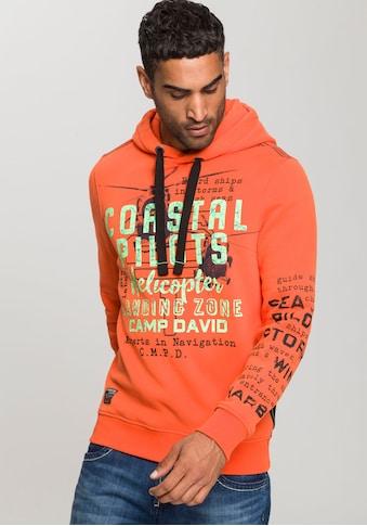CAMP DAVID Kapuzensweatshirt, mit grossem Logofrontprint kaufen