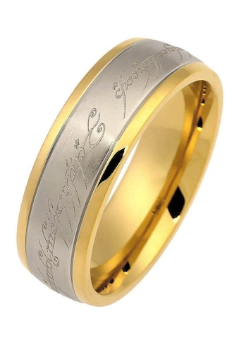 Der Herr der Ringe Fingerring »Der Eine Ring - Edelstahl bicolor, 20002165«, Made in Germany kaufen