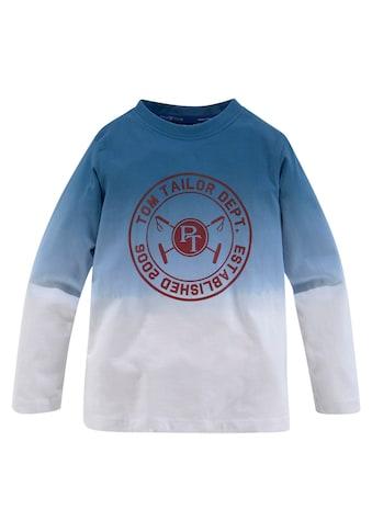 TOM TAILOR Polo Team Langarmshirt, mit Farbverlauf kaufen