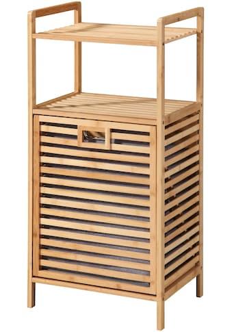 WELLTIME Ausziehwäschekorb »Panama«, mit Ablage, Regal und Wäschesammler aus Bambus kaufen