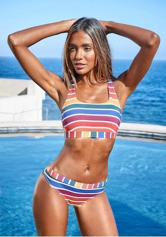 LASCANA Bustier-Bikini-Top »Rainbow Collection«, mit gekreuzten Trägern kaufen