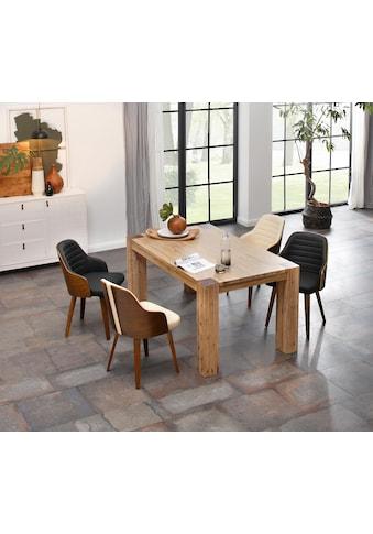 Home affaire Esstisch »Maggie«, aus massivem Akazienholz, in drei verschiedene... kaufen