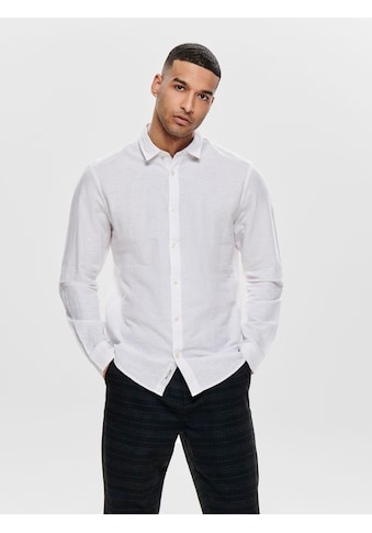 ONLY & SONS Langarmhemd »CAIDEN LS SOLID LINEN SHIRT« kaufen
