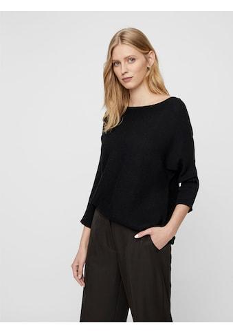 Vero Moda Rundhalspullover »VMNORA«, in Querrippenstruktur kaufen