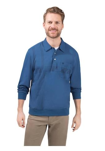Hajo Langarm - Poloshirt mit grafischem Druck vorne kaufen