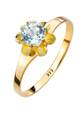 Lady Ring mit 1 rundem Blautopas kaufen