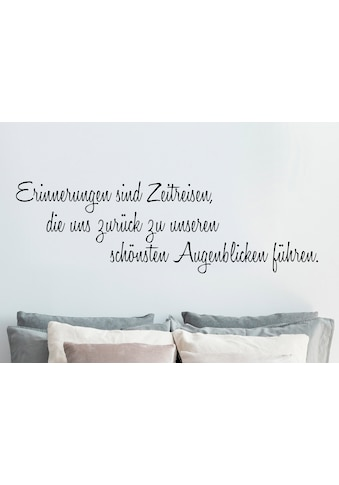 QUEENCE Wandtattoo »Erinnerungen sind Zeitreisen…«, dunkelgrau, 120 x 40 cm kaufen