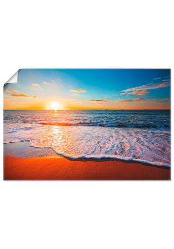 Artland Wandbild »Sonnenuntergang und das Meer«, Strand, (1 St.) kaufen
