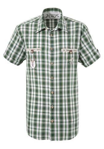 OS-Trachten Trachtenhemd, im modischem Karodesign kaufen