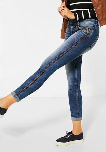 STREET ONE Slim-fit-Jeans, mit Galon Streifen kaufen