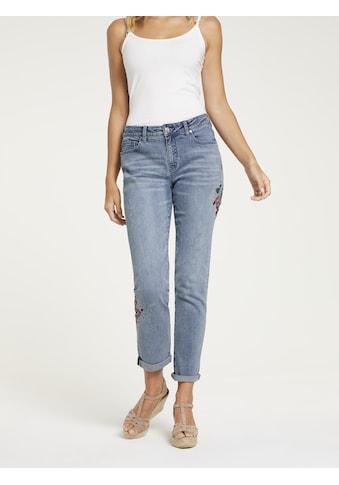 LINEA TESINI by Heine Boyfriend-Jeans, mit Stickerei kaufen
