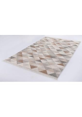 Teppich, »Triangle Kelim«, TOM TAILOR, rechteckig, Höhe 5 mm, handgewebt kaufen